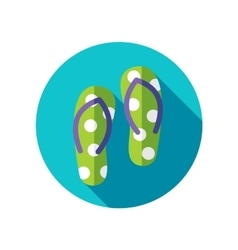 Flip flops flat icon with long shadow vector