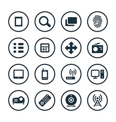 Device icons universal set vector