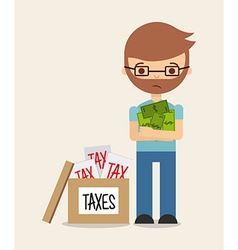 Tax liability design vector