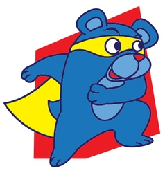 Super Bear vector image