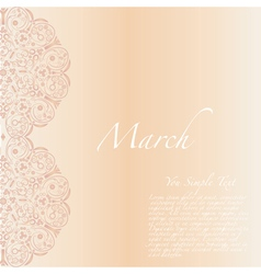 8 march ornament flower greeting card vector