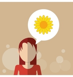 Flower concept woman icon colorfiul vector