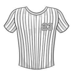 Baseball t-shirt icon black monochrome style vector