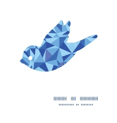 Blue triangle texture bird silhouette pattern vector