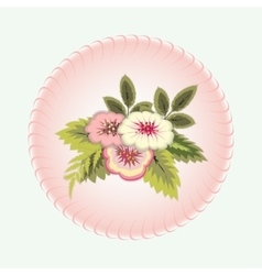 Bouquet of flowers vignette floral design vector