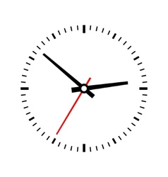 Clock dial on a white background vector image