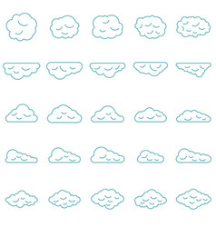 clouds set in line style vector image vector image