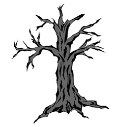 Dead tree silhouette vector