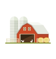 Farm isolated on white background Flat vector image vector image