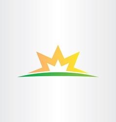 Half star sunset logo business icon vector