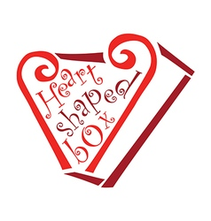 Heart shaped box vector