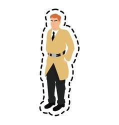 Isolated inspector man cartoon design vector