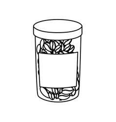 Jar with coffee beans vector
