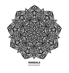 Mandala flower drawing decorative boho vector