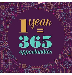 New year inspiration quote poster design vector