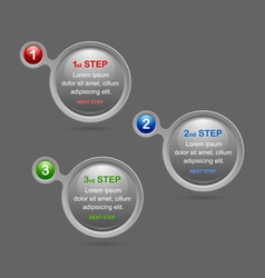 Progress steps design elements vector image vector image