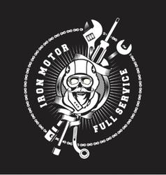 Repair service emblem vector