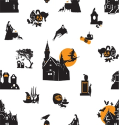 Seamless background with Halloween theme vector image vector image