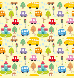 Seamless pattern city vector