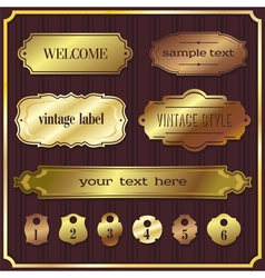 Set 5 of design elements sample labels shapes vector