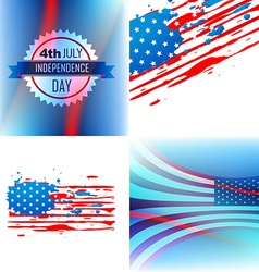 Set of abstract background of american vector