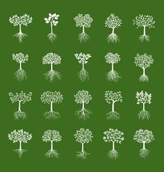 Set white trees vector