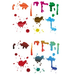 Spillage Blots vector image vector image