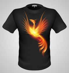 t shirts Black Fire Print man 13 vector image vector image
