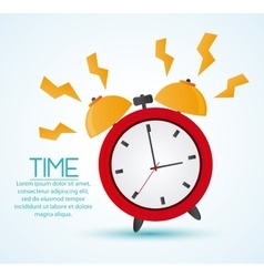 Traditional clock and time design vector