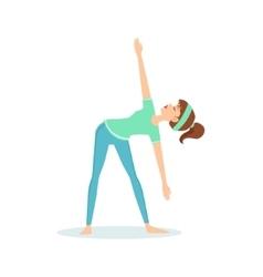 Triangle trikonasana yoga pose demonstrated by the vector