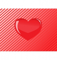 vector red glass heart vector image vector image