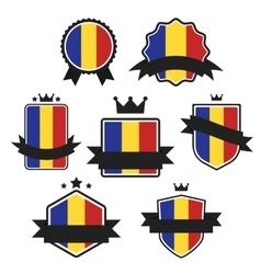 World flags series flag of romania vector