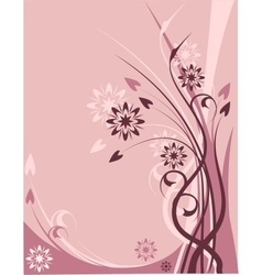 Pink floral theme vector