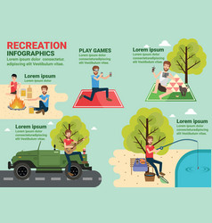 Recreation info graphics vector
