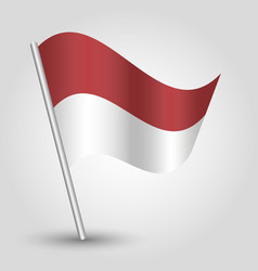 Waving simple triangle indonesian flag vector