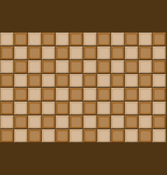 cartoon hand drown beige and brown seamless tiles vector image