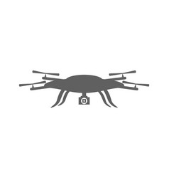 Drone icon drone isolated on white background vector