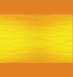 Yellow scratch touches pop art background vector