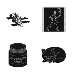 Animal training and or web icon in black style vector