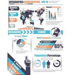 Infographics demographic element 11 blue vector