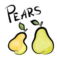 Pears sign isolated pear fruit tag fresh farm vector