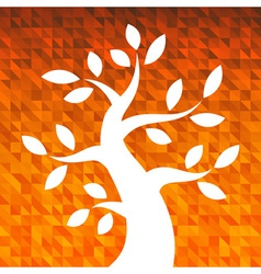 Autumn orange background for your design vector