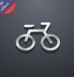 Bicycle icon symbol 3d style trendy modern design vector