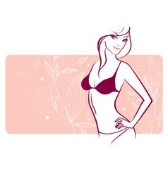 woman florals vector image