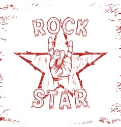 Rock star print for t-shirt graphic vector