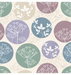 Botanical pattern with foliage vector