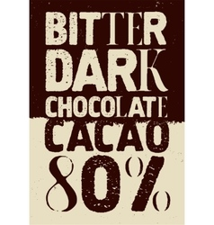 Typographical vintage chocolate poster design vector