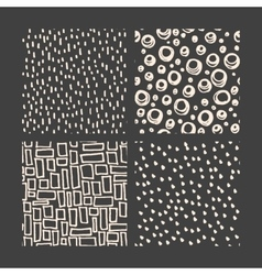 Hand drawn pattern collection vector