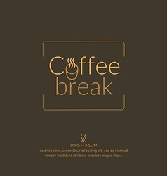 Coffee break logo vector