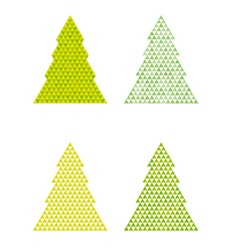 Abstract trees with triangle on the top vector